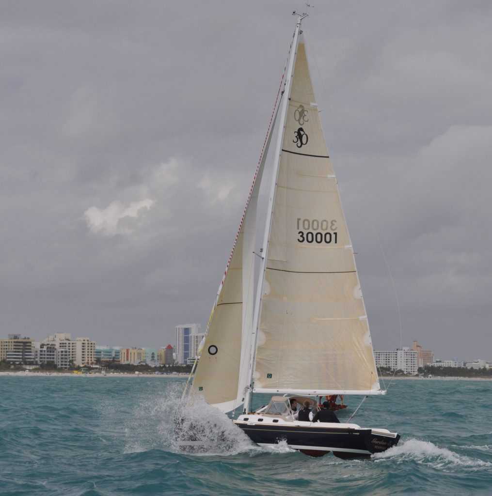 Sloop off Miami